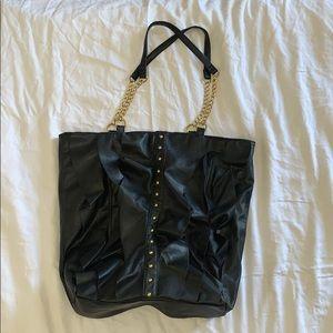 DSW Large Black & Gold Tote Bag